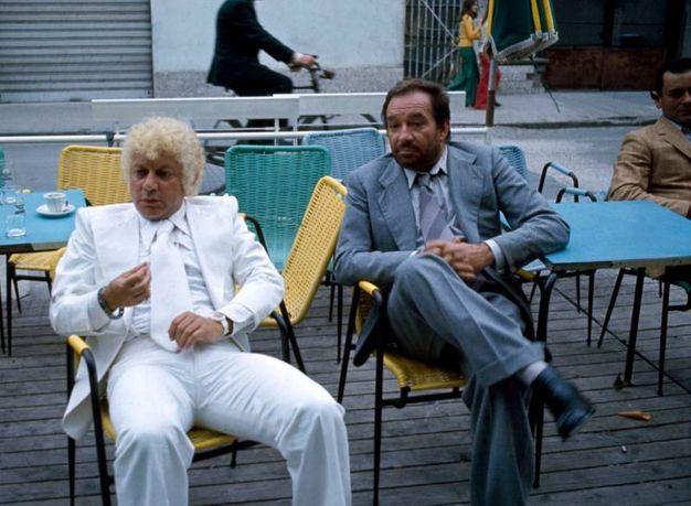 Con Ugo Tognazzi nel 1975 (Lapresse)