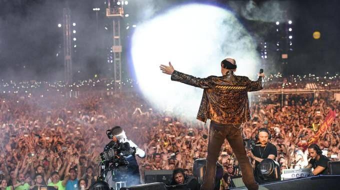Un momento del concerto di Vasco Rossi a Modena Park (foto Ansa)
