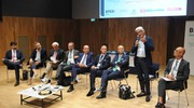 I relatori Maccari, Croceri, Ottavi, Pesarini, Casale, Togni, Guzzini e Parcaroli (foto Calavita)