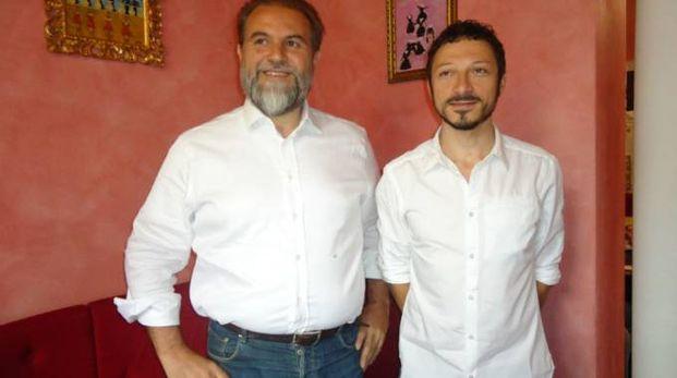Da sinistra Lorenzo Fiorelli e Carlo Carloni a presentazione del cartellone del festival
