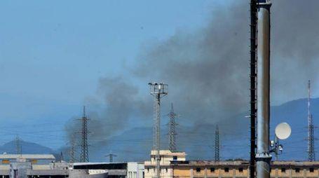 La nuvola di fumo (Foto Lanari)