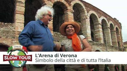 Syusy e Patrizio davanti all'Arena di Verona