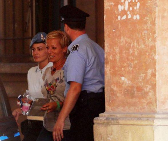 Il sorriso di Daniela Poggiali. L'ex infermiera dell'ospedale di Lugo è stata assolta in appello (foto Schicchi)