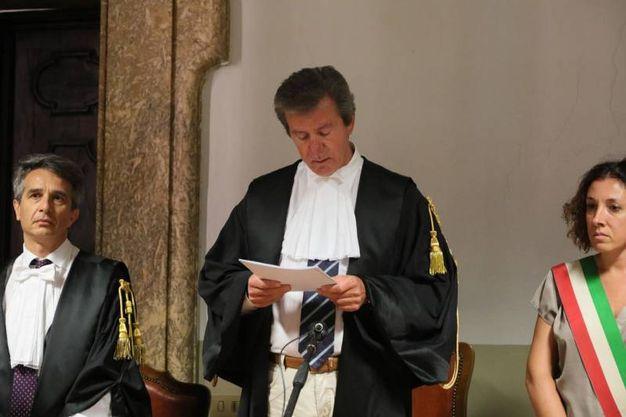 La lettura della sentenza (foto Schicchi)