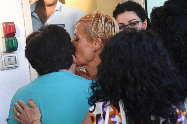 """Daniela Poggiali è' apparsa euforica alla lettura della sentenza di assoluzione e ha esultato, dicendo """"Sì, sì!"""" (Foto Schicchi)"""