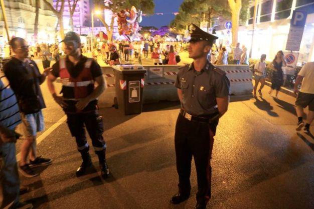 Barriere di sicurezza per la Notte Rosa (Foto Ravaglia)