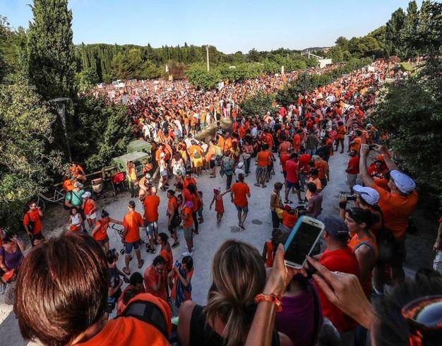 Corteo arancione a parco Miralfiore (Foto Print)