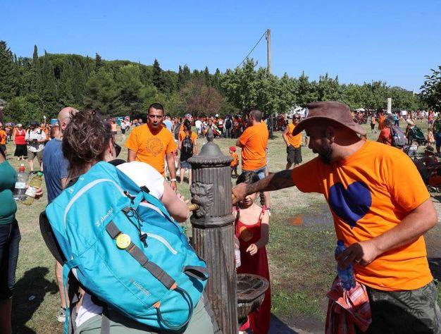 La manifestazione nazionale per la libertà di decidere se fare vaccinare o meno i propri figli al parco Miralfiore (Foto Print)