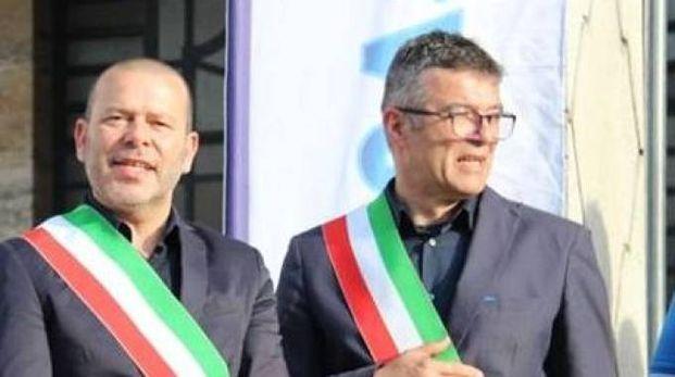 Moreno Gasparini, sindaco di Loreo e Massimo Barbujani, di Adria
