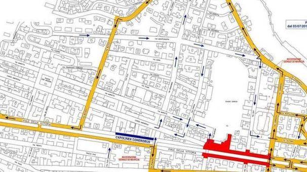 Corso Amendola: chiuso il tratto tra via Giannelli e via De Bosis