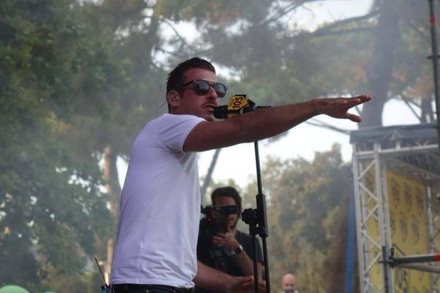 Gabbani sul palco (Foto Umicini)