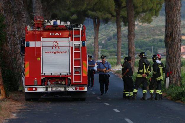 Il luogo dell'incidente in cui hanno perso la vita due giovanissimi (Valtriani)