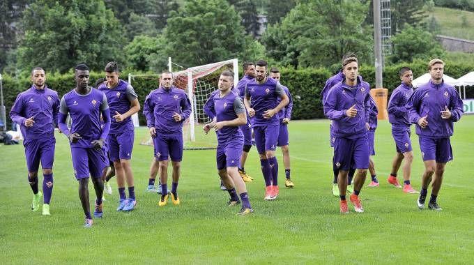 Moena, la Fiorentina in allenamento