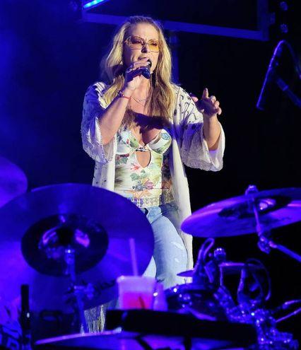 Un momento del concerto allo stadio Benelli (Fotoprint)