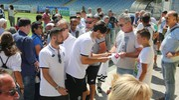 Folla all'Orogel Stadium-Dino Manuzzi per la partenza dei bianconeri per il ritiro (foto Ravaglia)