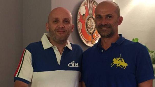 Fabrizio Baffetti col presidente della Vis Filippo Bertelli