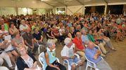 Il pubblico della festa della Lega a Galeata (foto Frasca)
