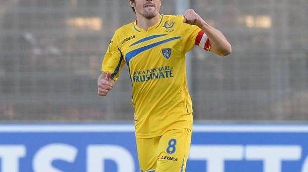 Il centrocampista austriaco Gucher con la maglia del Frosinone