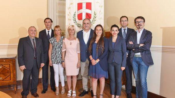 Il neosindaco Mario Landriscina presenta la giunta (Cusa)