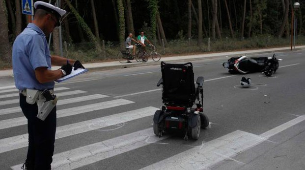 La scena dell'incidente (foto Corelli)