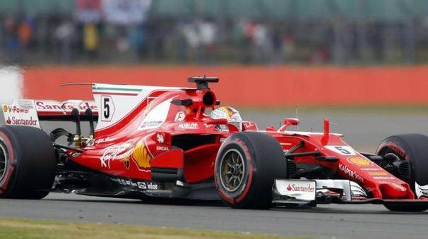 Sebastian Vettel a Silverstone (Ansa)