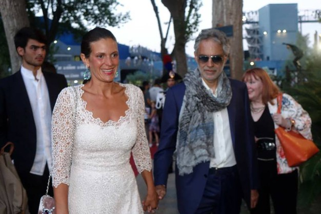 Andrea Bocelli e signora (Foto Umicini)