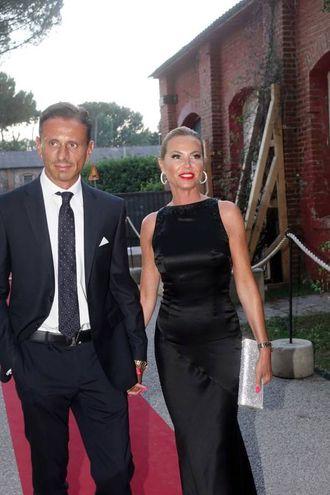 Federica Panicucci con il compagno (Foto Umicini)