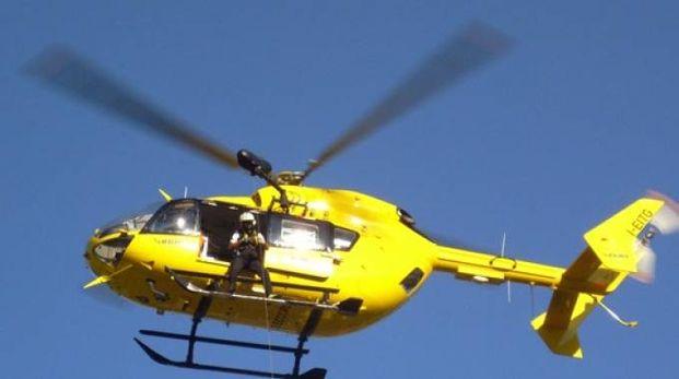 L'elicottero di Pavullo intervenuto a Fanano