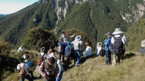 Gli studenti di paleontologia cinesi