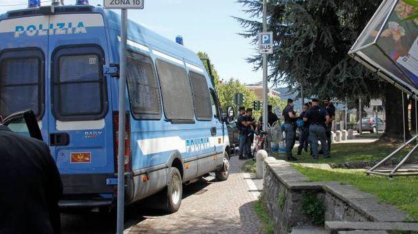 Forze dell'ordine alla manifestazione di Como (Cusa)