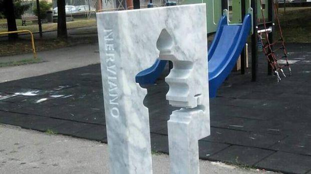 La fontanella invisibile al parchetto di via Roma a Nerviano