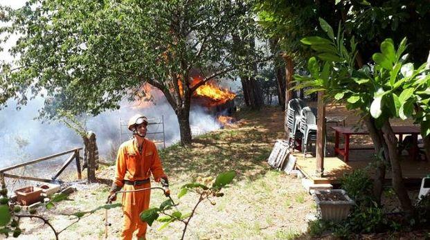 L'incendio a Fognano