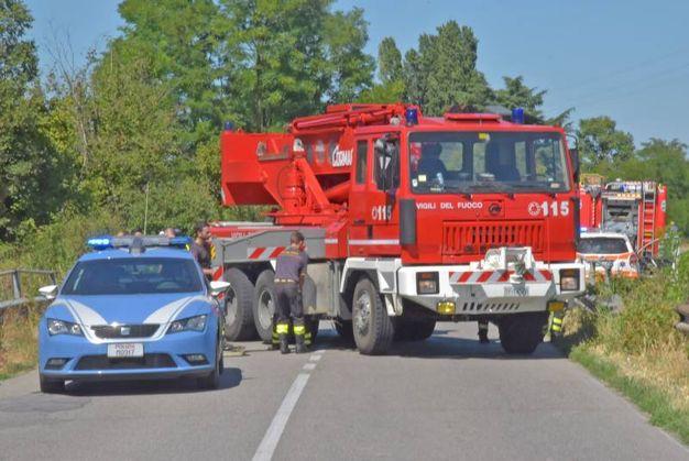 Incidente mortale a San Genesio (Foto Torres)