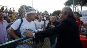Enrico Lucci con Mario Baldassari (foto Corelli)