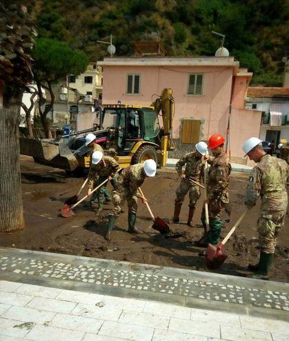 Alluvione a Scilla (Ansa)