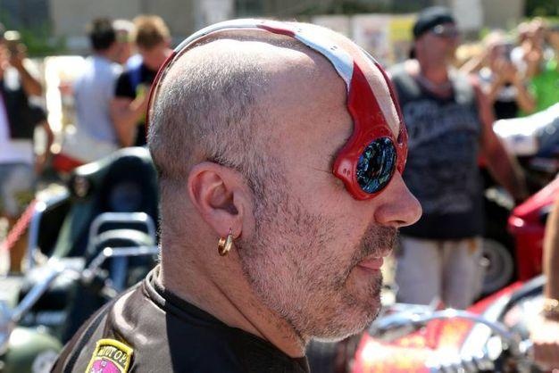 La festa dei biker sul lungomare a Cesenatico (foto Ravaglia)