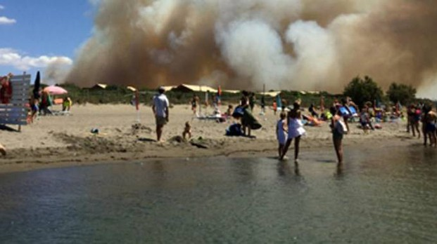 L'incendio di Capalbio