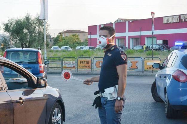 La polizia (Foto Attalmi)