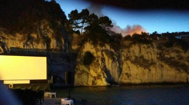 Incendio a Ischia (Ansa)