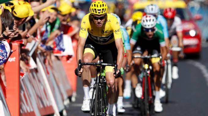 Tour de France 2017, Froome all'arrivo (LaPresse)