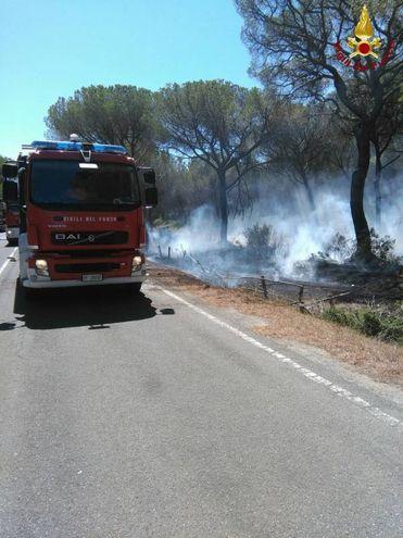 L'incendio alla Fiumara