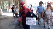 Spiderman in via Rizzoli
