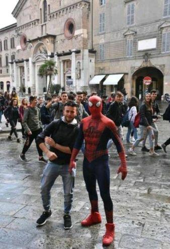 Spiderman a Reggio Emilia