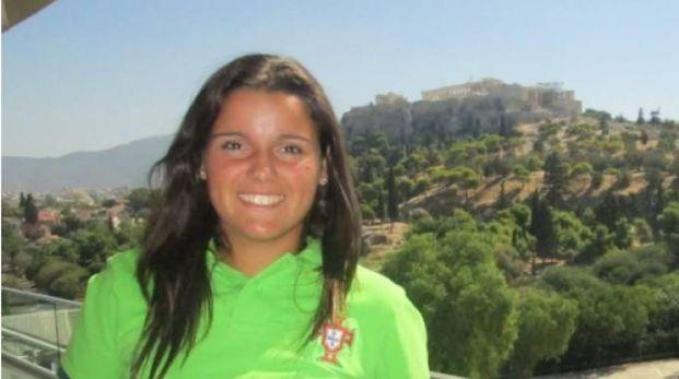 Monica Mendes in ritiro con la nazionale del Portogallo