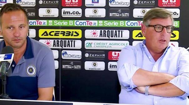 L'allenatore Fabio Gallo e l'amministratore delegato Luigi Micheli