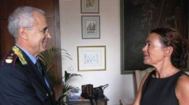 Giuliano Semeraro e la sindaca rieletta Stefania Bonaldi