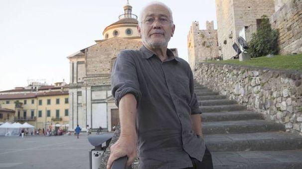 Saverio Marconi in piazza delle Carceri (foto Attalmi)