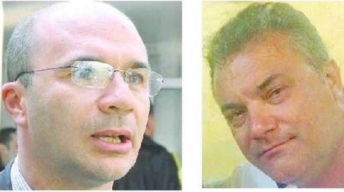 Il sindaco Luca Vecchi e l'imprenditore Pasquale Brescia