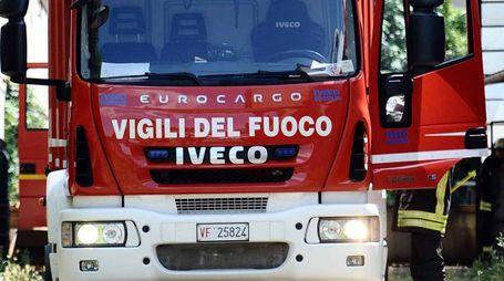 Vigili del fuoco in azione