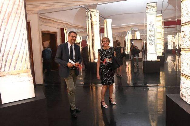 Rita Ghedini, presidente Legacoop Bologna e Simone Gamberini, direttore Legacoop Bologna (Foto Schicchi)
